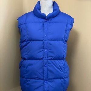 Land's End Blue Goosedown Puffer Vest XL